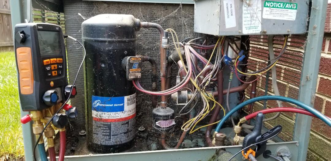 Arlington, VA - Preventative maintenance on Rheem Heat Pump