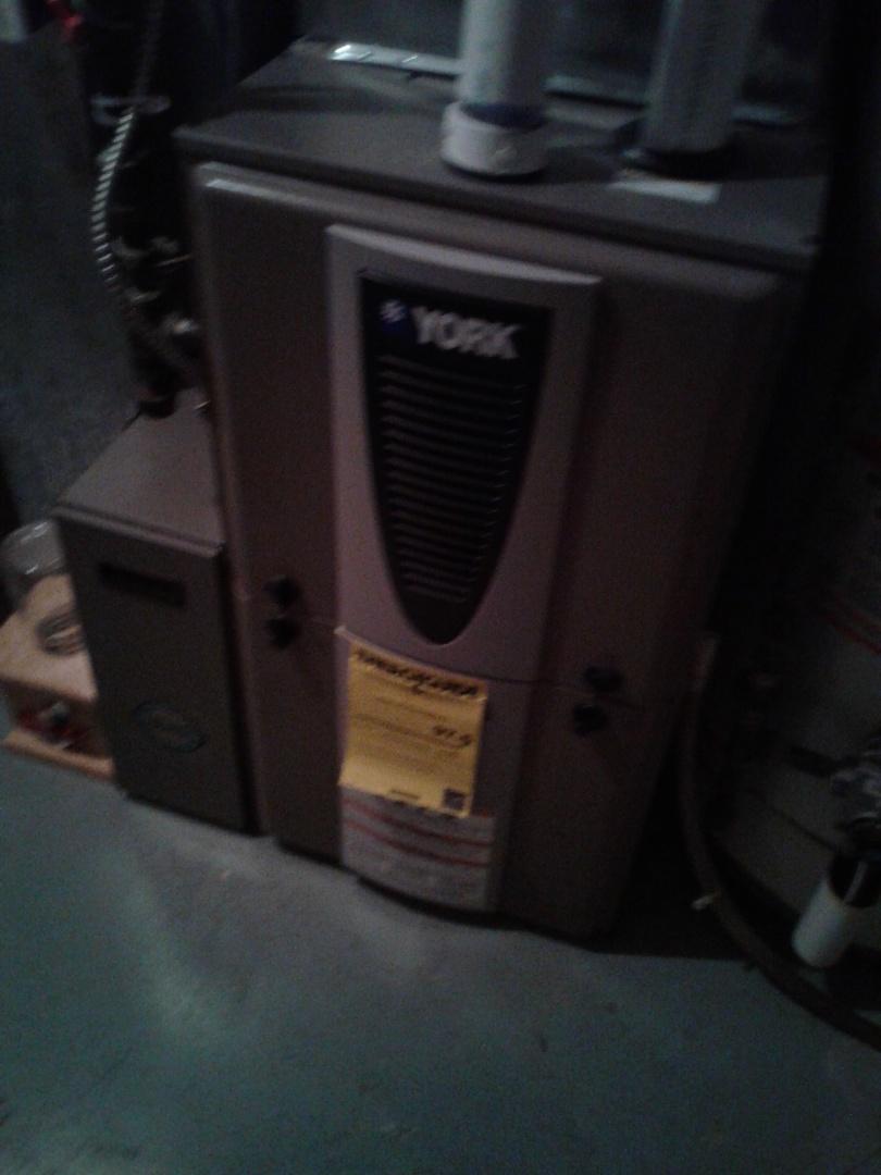 Calgary, AB - Heating Tune-up, performed annual maintenance on York furnace.