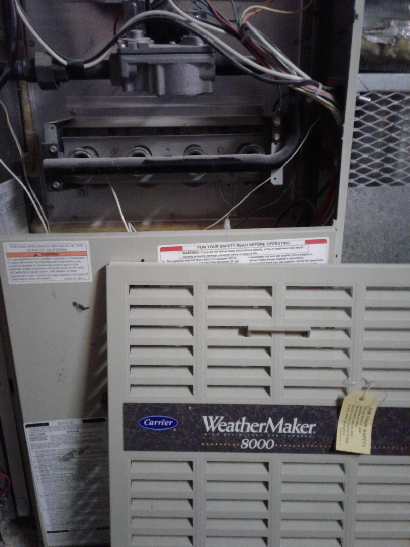 Calgary, AB - Heating service call, repaired heating issue on Carrier   Furnace.
