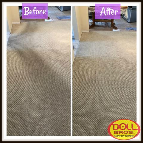 Pinellas Park, FL - The berber carpet was in need of a deep carpet dry cleaning. Once all the dirt was removed the carpet was sanitized and deodorized.