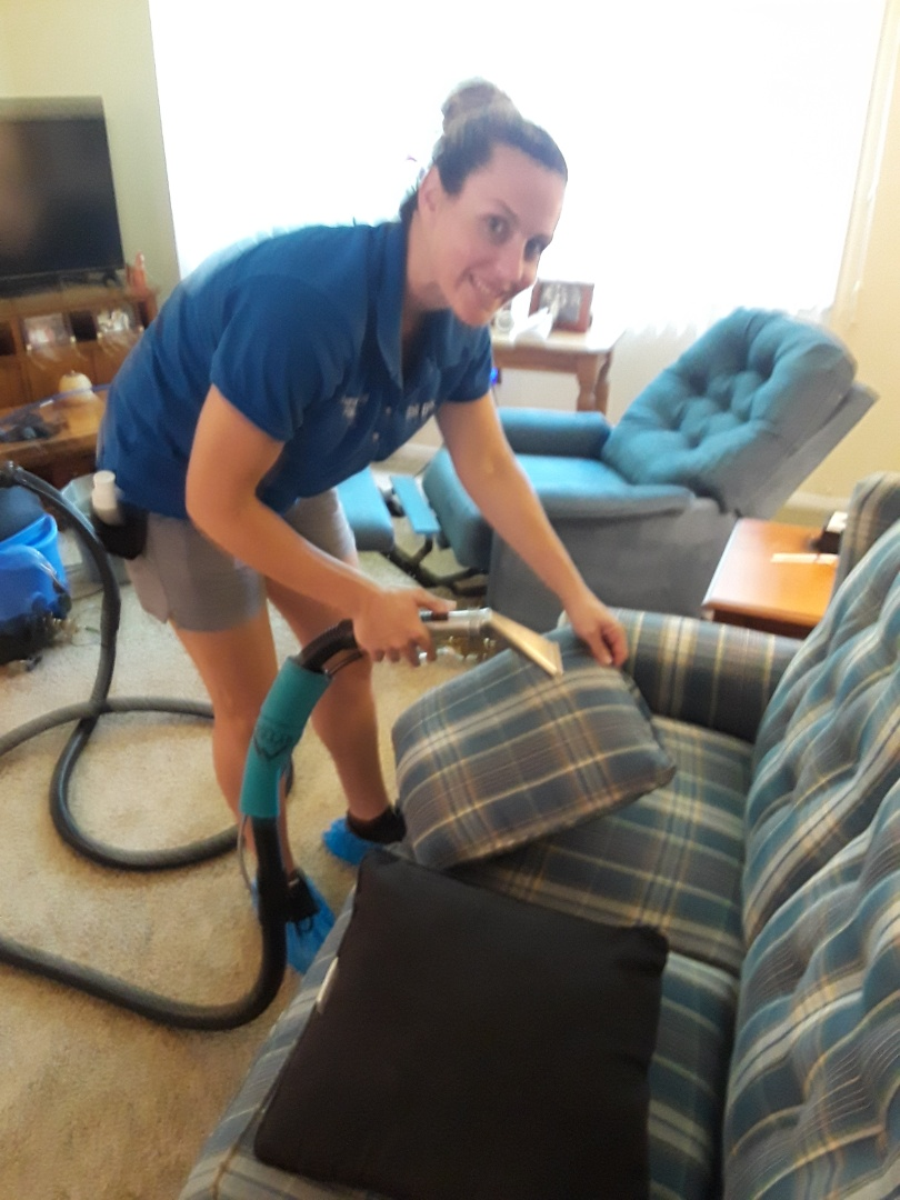Largo, FL - Residential Upholstery Cleaning and Low Moisture Carpet Cleaning of the whole house.