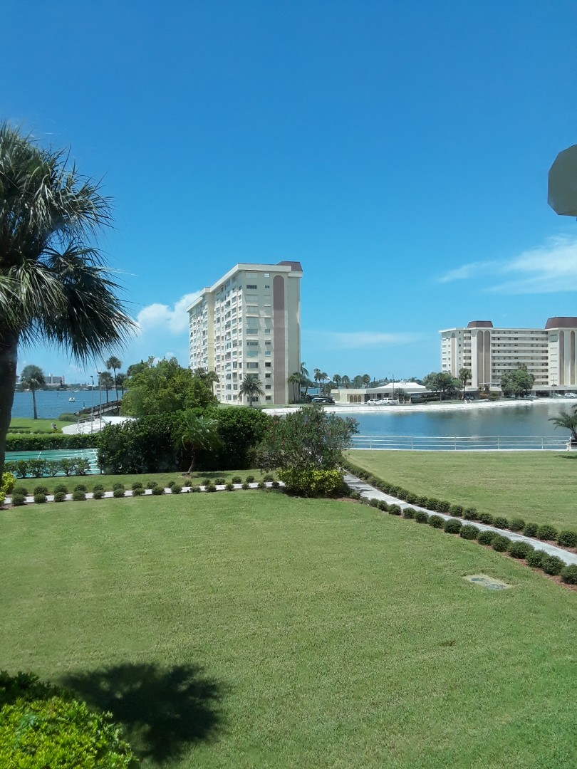 St. Petersburg, FL - At Sea Towers Condominiums Tile & Grout Cleaning and Furniture Cleaning. What a great view of the Intercoastal waterway.
