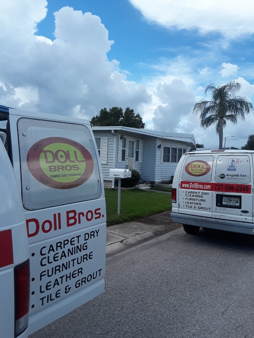 Largo, FL - Just completed job #2 in fairway Village Mobile home park. This was Leather Furniture Cleaning and Upholstery Cleaning.