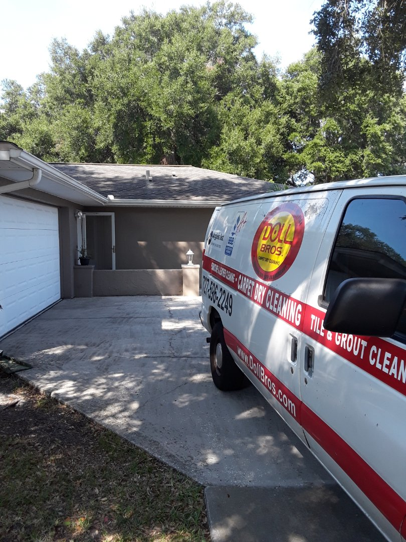 Dunedin, FL - Been on this residential job for the past 4 hours. They are putting the home up for sale and completely  furnished. We did Carpet Cleaning, Furniture Cleaning and Tile and Grout Cleaning and our customer is thrilled with results.