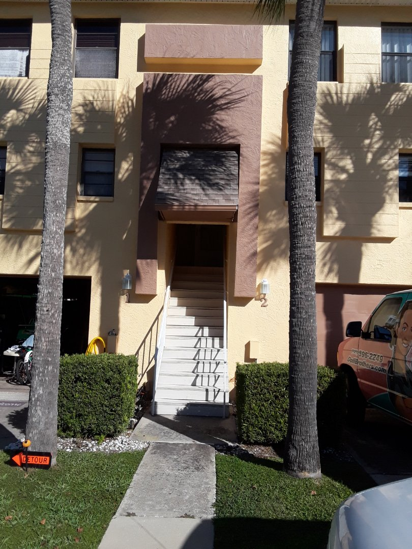 Indian Rocks Beach, FL - Working at Curlew Landings  Townhouses. This new customer found us on the Nextdoor neighborhood App. Cleaning all of the carpets and the stairs. Tile and Grout Floor Cleaning the entire 2nd level.