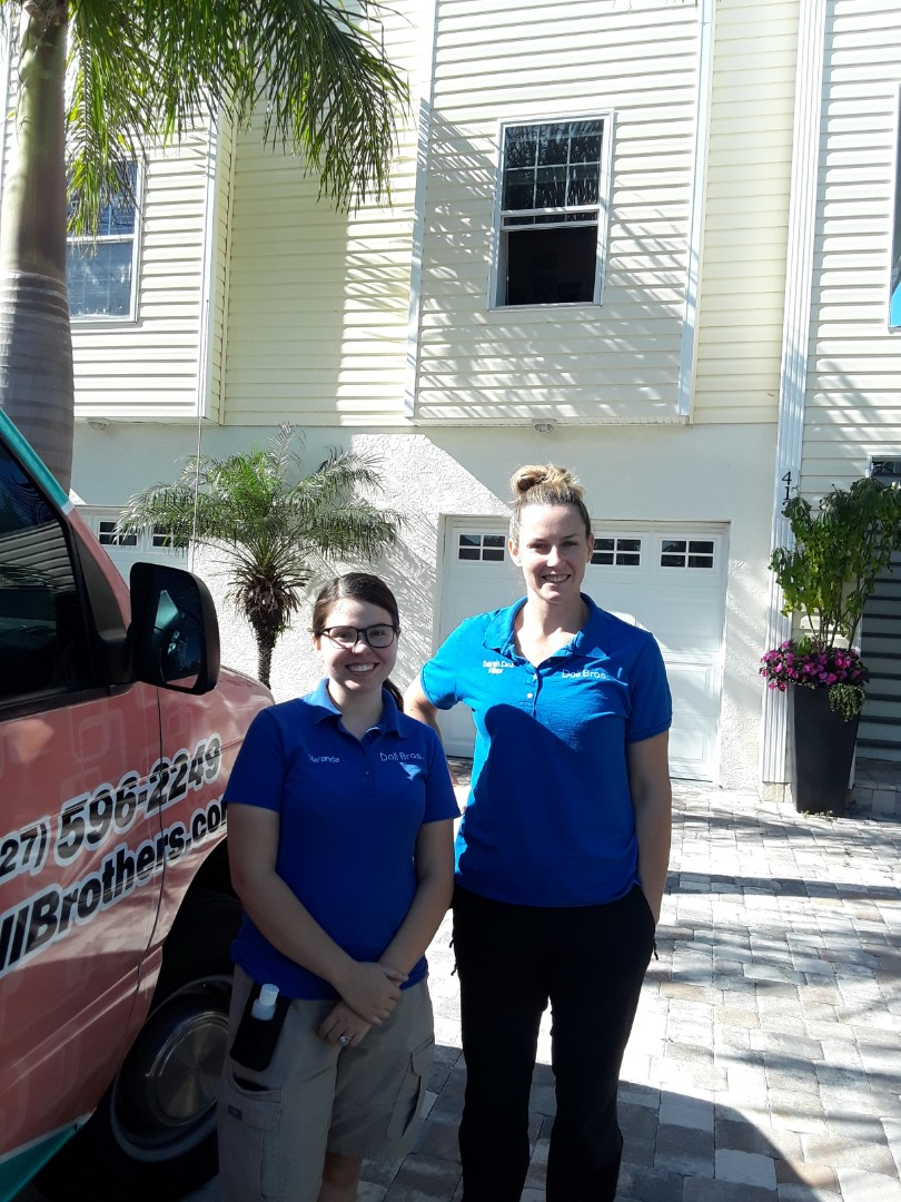 Indian Rocks Beach, FL - This is a 7 bedroom home on the intercoastal waterway that we are doing our 9 step Carpet Dry Cleaning at. They found us on the Nextdoor app and were impressed with all of our reviews. This is Sarah and Maranda when they arrived.