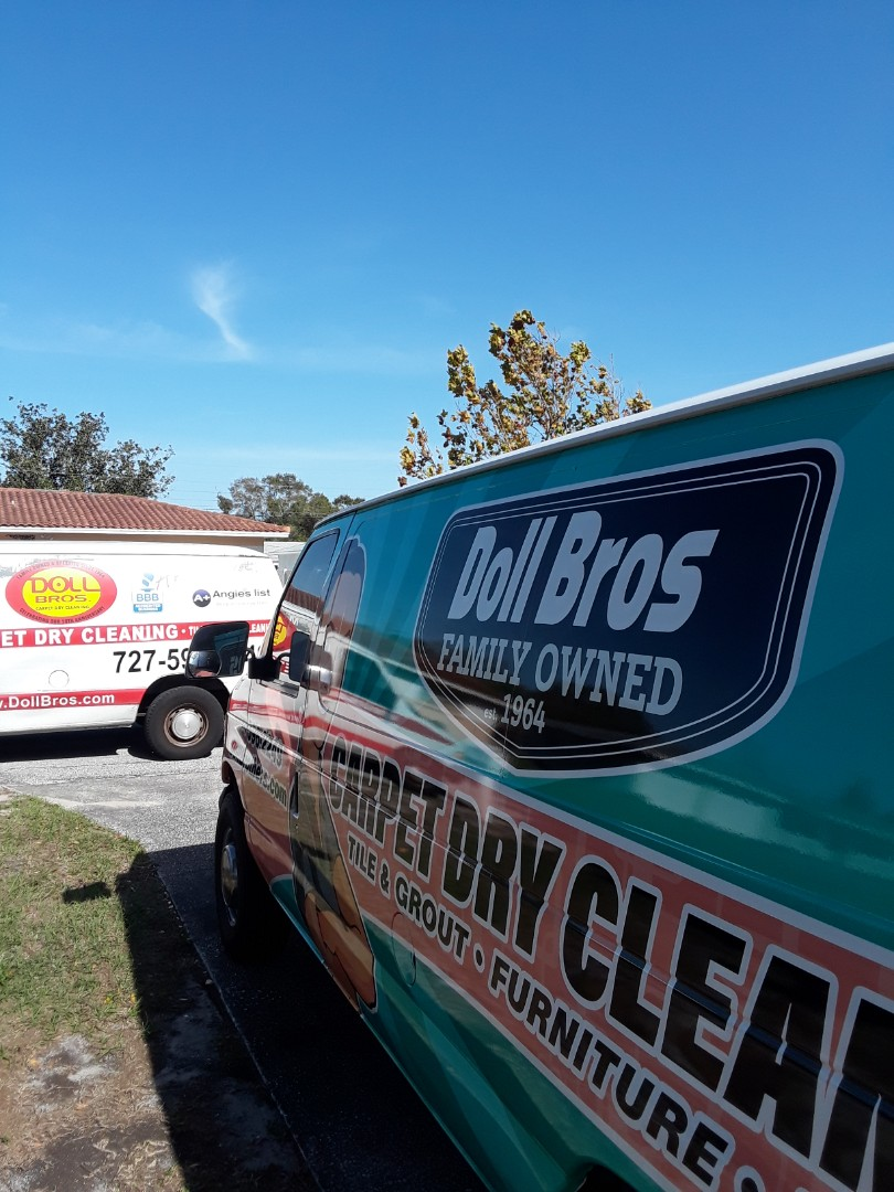 Clearwater, FL - The last time we cleaned for this customer was 15 years ago. She remembered our company because of the great work that we did for her back then. We have both trucks here for whole house Carpet Cleaning and Upholstery Cleaning numerous pieces of Furniture.