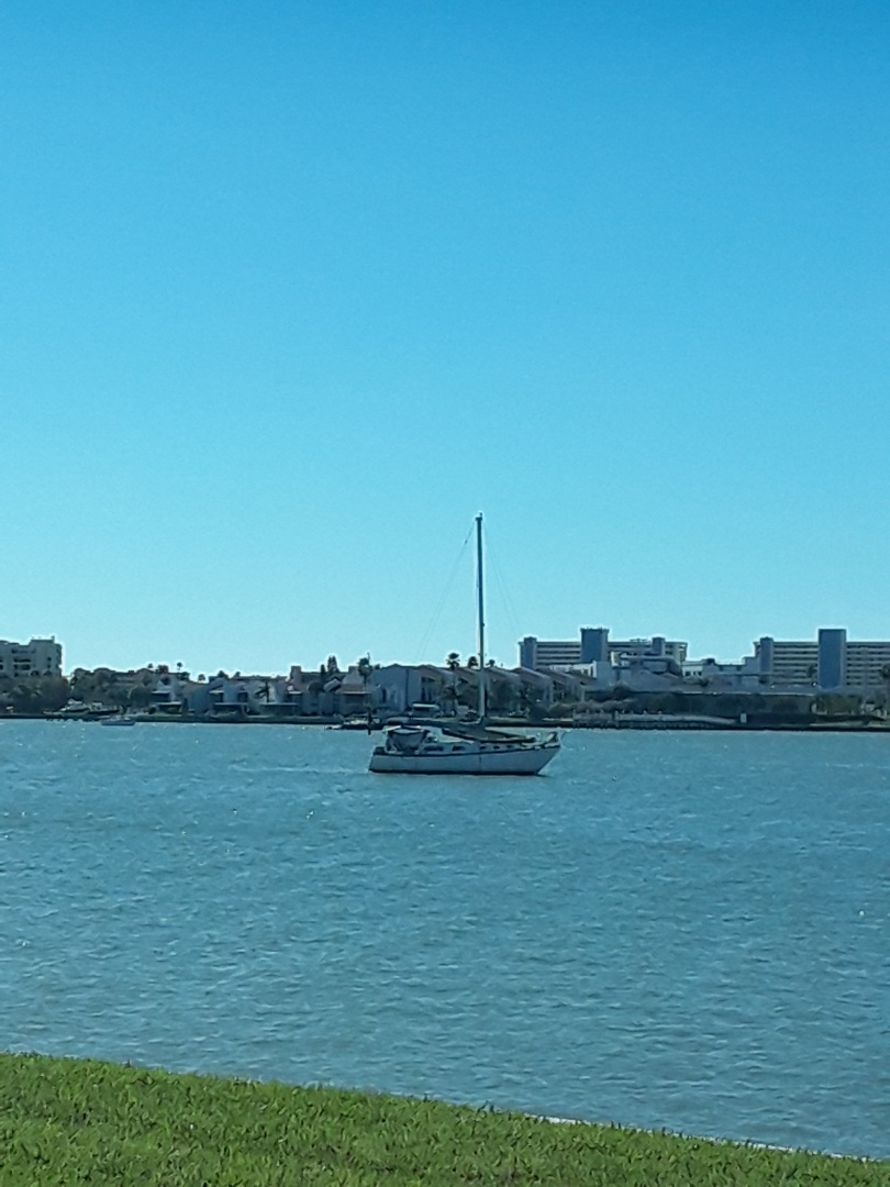 St. Petersburg, FL - We just completed two jobs in Sea Towers Condominiums. One was Carpet Cleaning and the other was Carpet Cleaning and Tile and Grout Cleaning. This is the view of the intercoastal from these units.