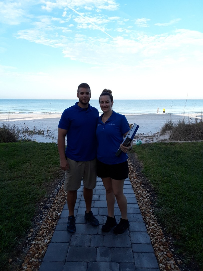 Indian Rocks Beach, FL - Working at a beautiful 3 story Townhouse on Indian Rocks Beach. While waiting for the customer to arrive we took in the Beach life. We are Carpet Cleaning a d Upholstery Cleaning on this job.