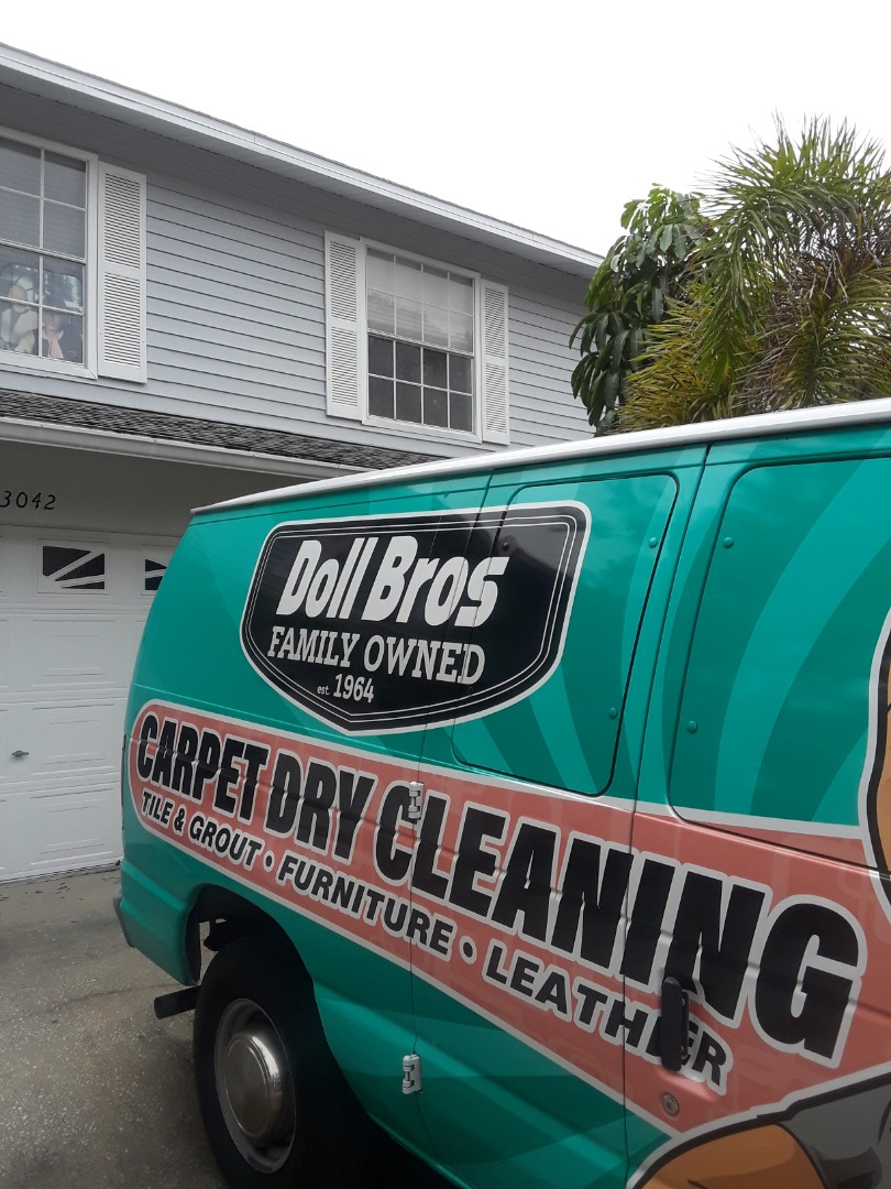 Largo, FL - Both trucks are working in Tall Pines Estates Cleaning Carpet in a 2 story Townhouse.