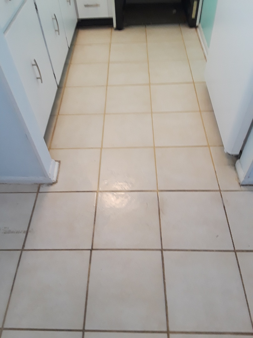 Indian Rocks Beach, FL - We just completed a Tile Floor Cleaning job for a 1 bedroom condo at Sea Treat Condominiums.