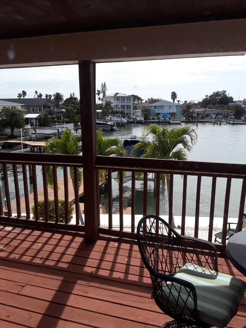 Redington Beach, FL - At a beautiful home on the intercoastal waterway Cleaning Carpet for a repeat customer of ours.
