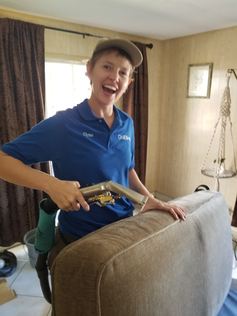 Clearwater, FL - We are Upholstery Cleaning and Carpet Cleaning ar La Plaza Mobile home Park.