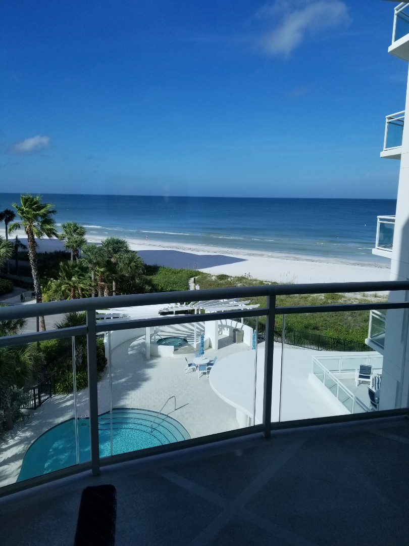 Clearwater, FL - What a view from our customers condominium. Furniture Cleaning on this job, 2 sofas and 2 chairs.