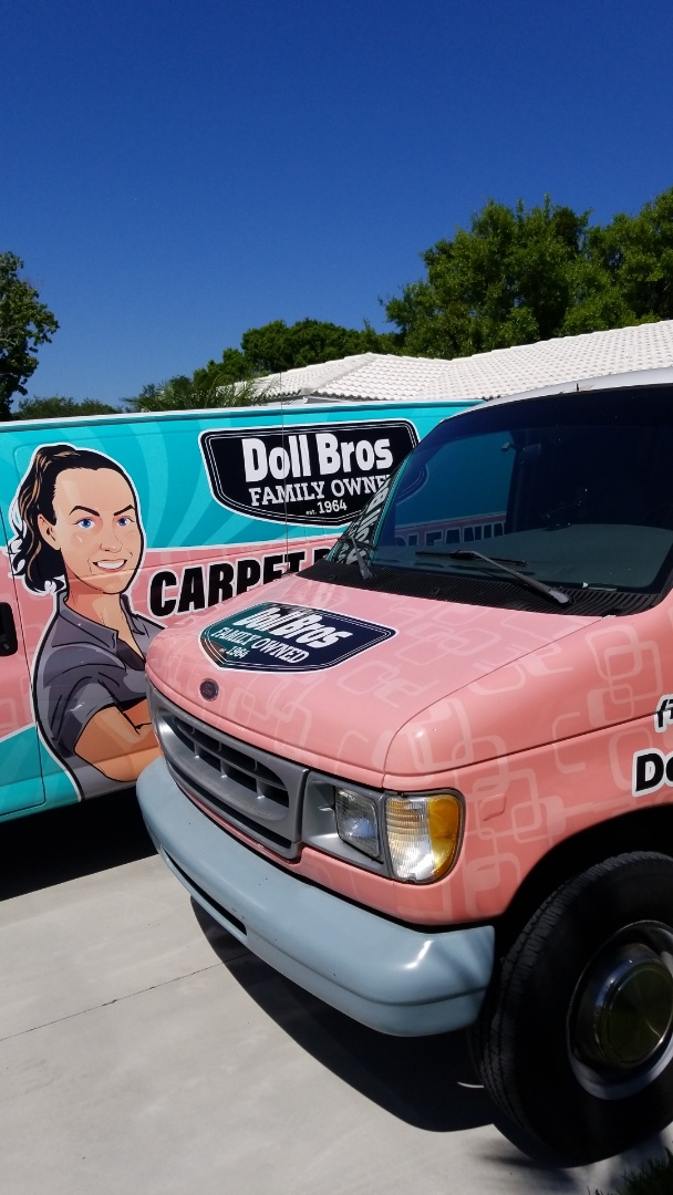 Seminole, FL - We have both trucks working at this customers home  We are Carpet Dry Cleaning the entire home.