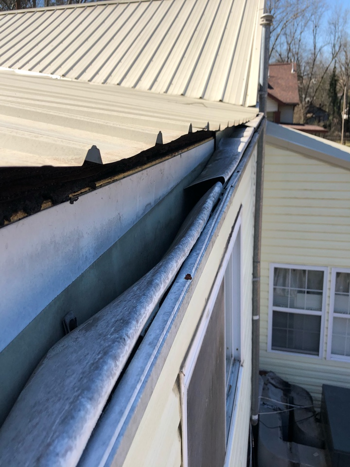 Brighton, AL - Measured for a new gutter