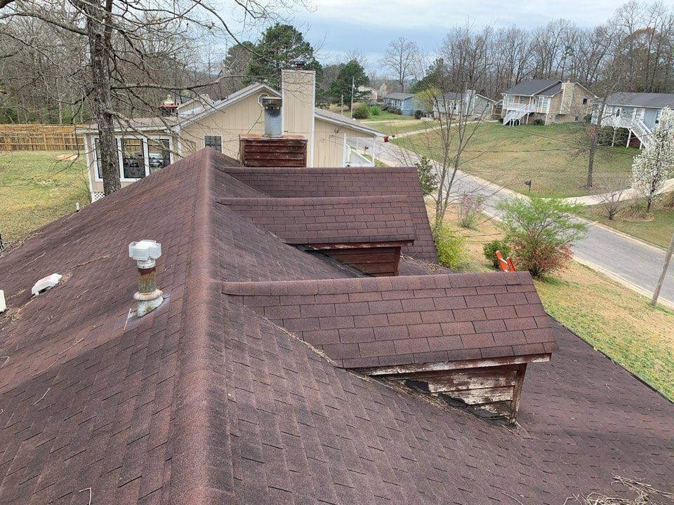 Pinson, AL - Measured to replace three tab shingle roof.