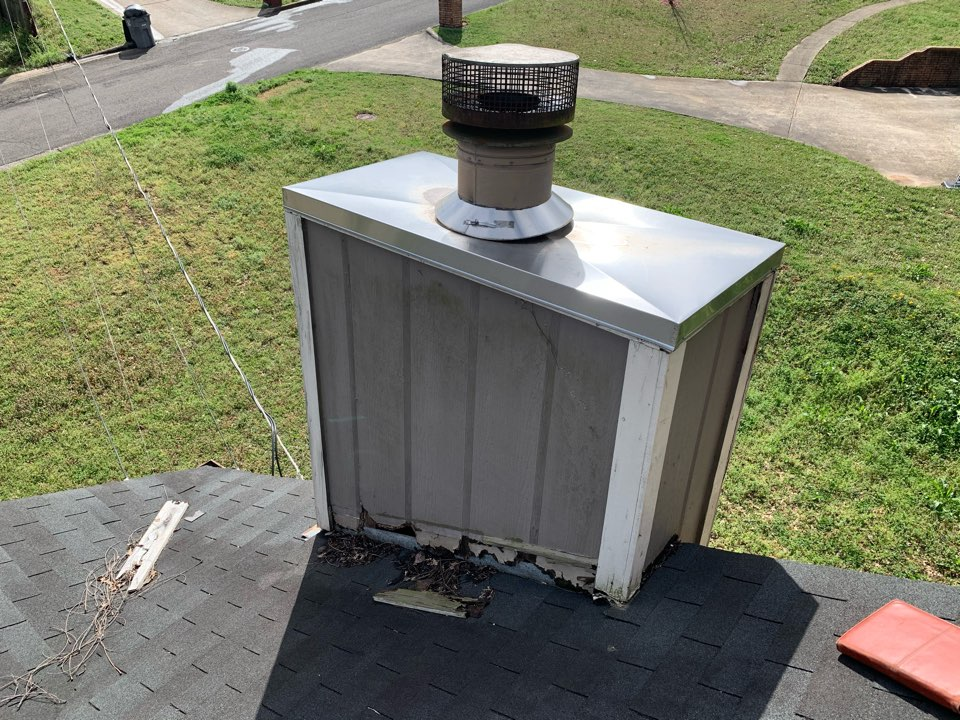 Center Point, AL - Measured to repair damaged siding and leaking chimney.