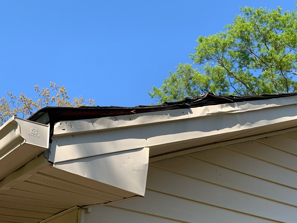 Center Point, AL - Measured to repair damaged roof and gutters.