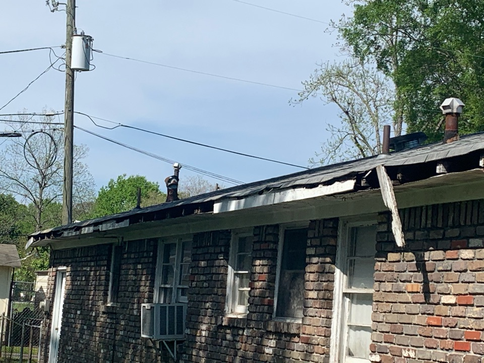 Irondale, AL - Measured to replace damaged gutters, fascia, and soffit.