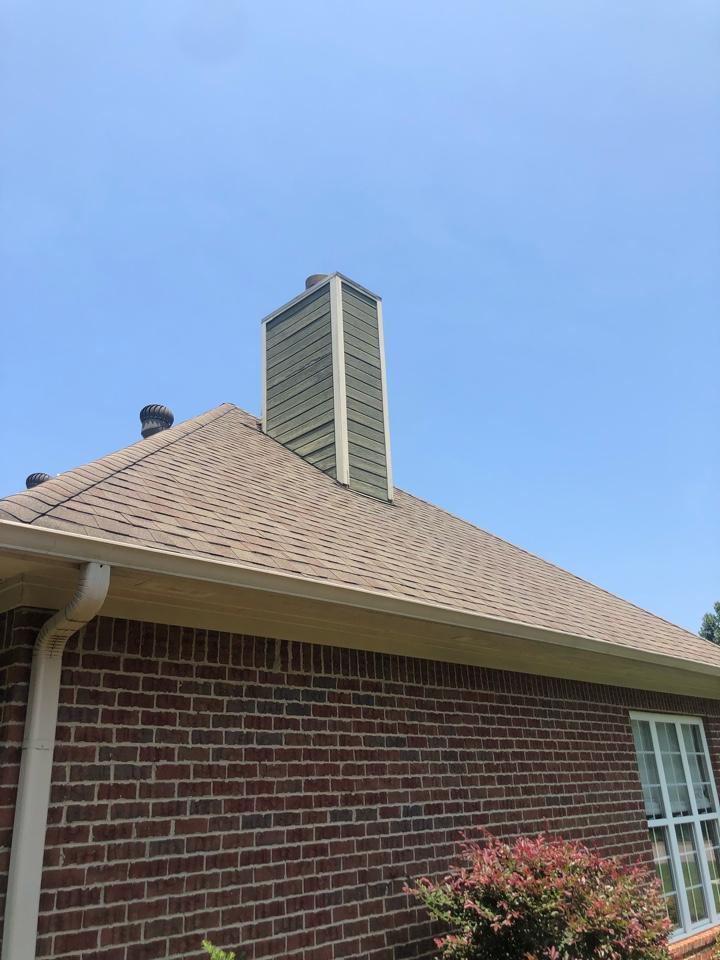 Calera, AL - Replace siding at chimney