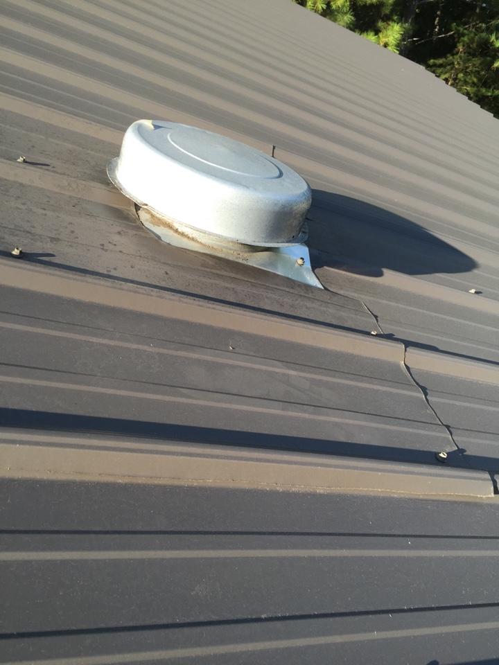 Birmingham, AL - Repairing pipes on the roof