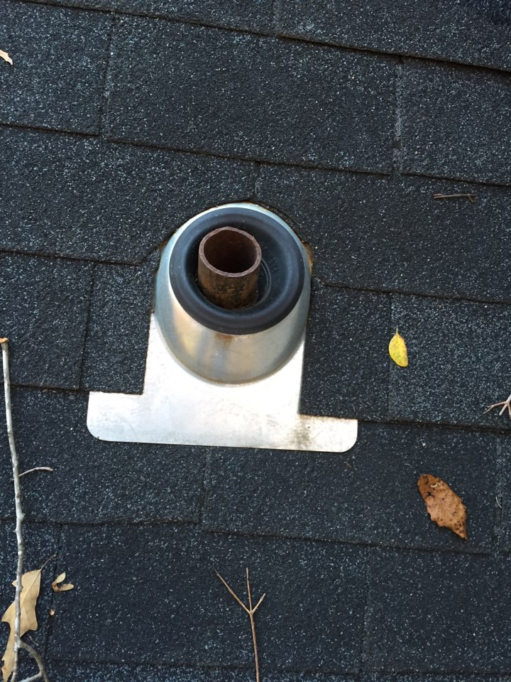 Alabaster, AL - Checking for a leak at a vent pipe on the roof