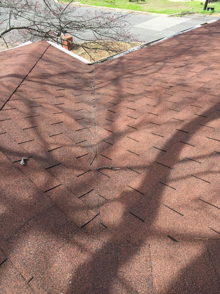 Birmingham, AL - Estimate for repairing roof leaks at a valley