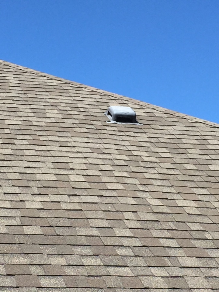 Calera, AL - Checking for roof leaks at a low profile vent