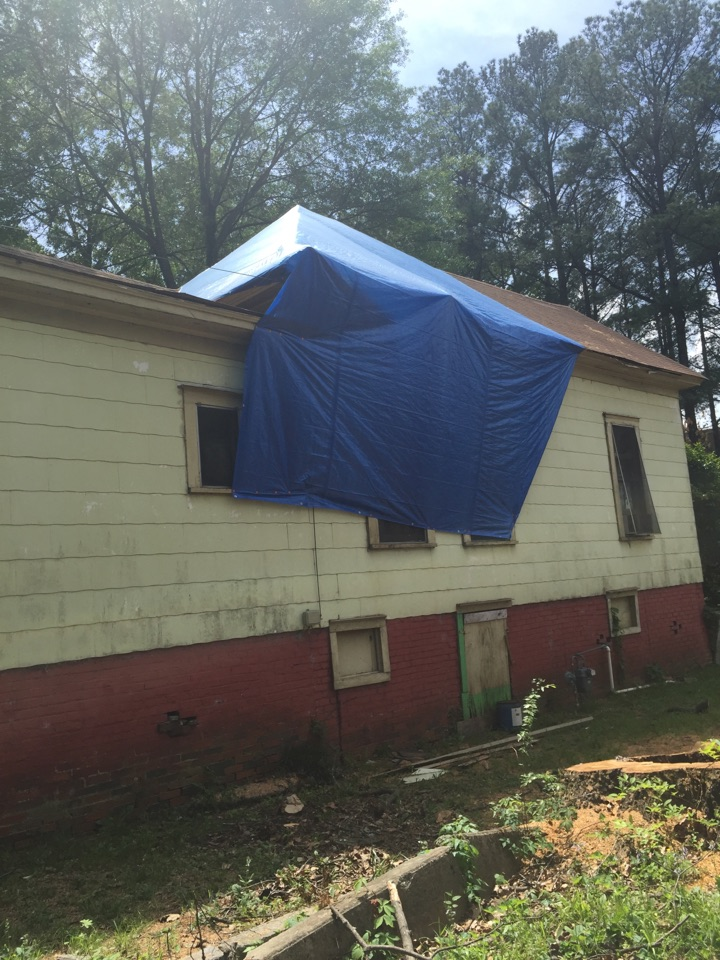 Birmingham, AL - Estimate for repairing where a tree fell on the roof