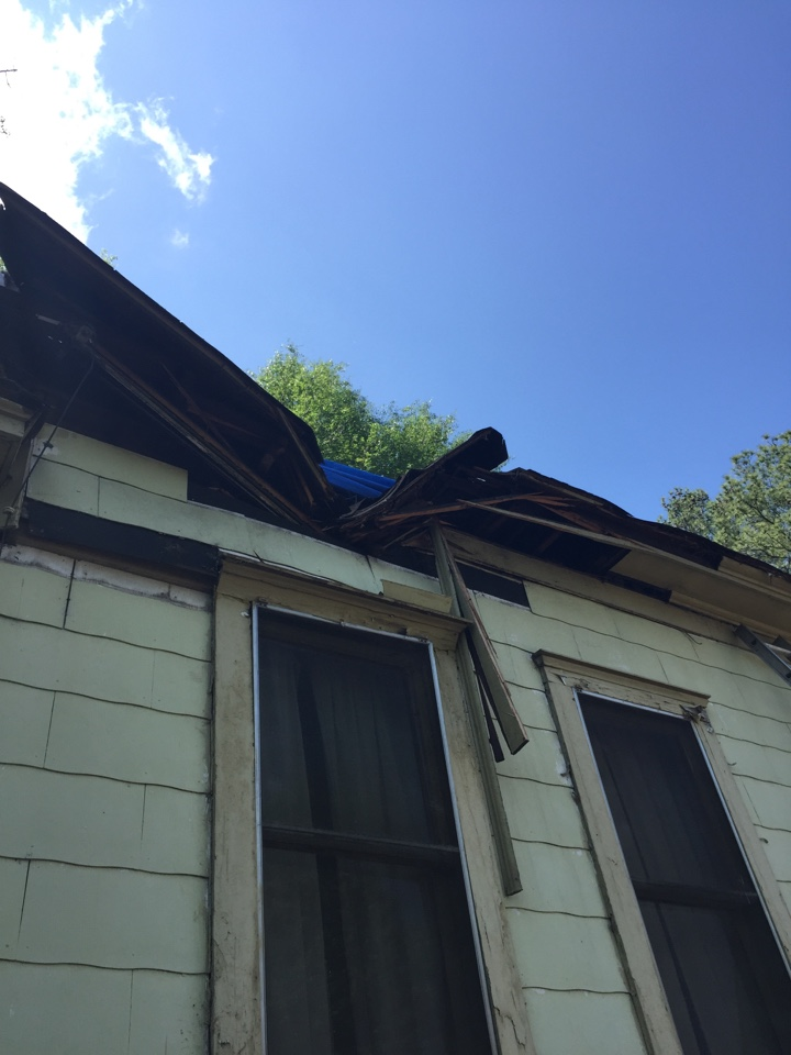 Birmingham, AL - Checking for roof damage from the storms