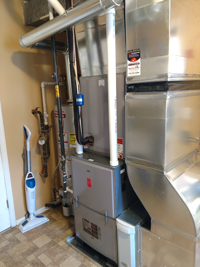 Install new Fujitsu/Ruud 96% 2 stage gas furnace and 16 seer central air conditioning system in Tuckerton