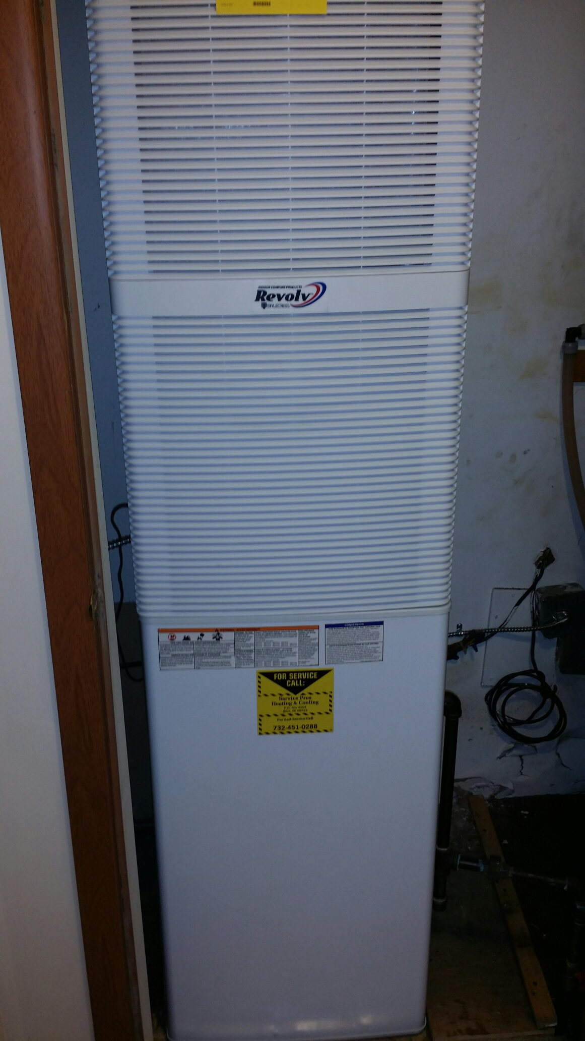 Freehold, NJ - Gas furnace install. Install mobile home gas furnace 70,000 btu Coleman / Revol