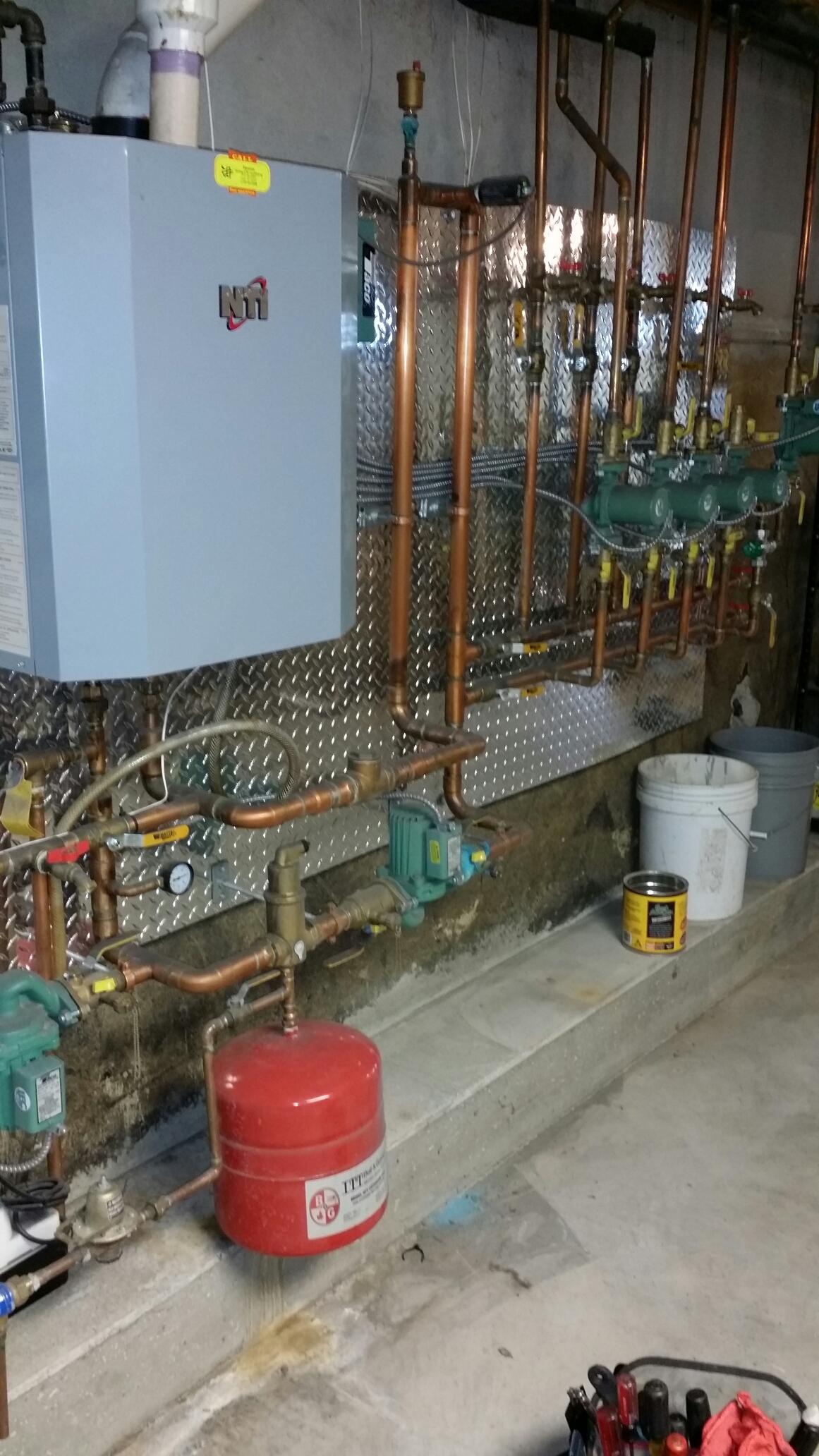 Toms River, NJ - Boiler service call. Repair NTI condensing gas boiler in Toms River, NJ