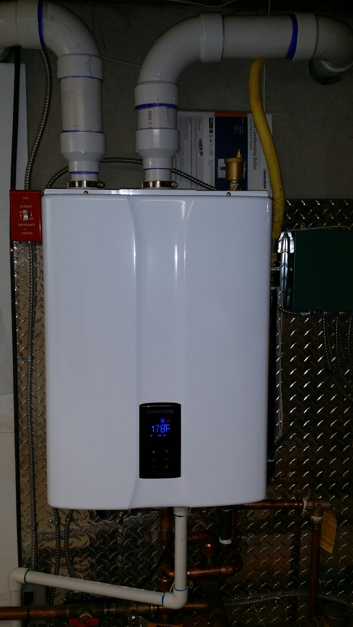 Toms River, NJ - Install nee Navien 95% high efficiency wall hung condensing boiler in Toms River