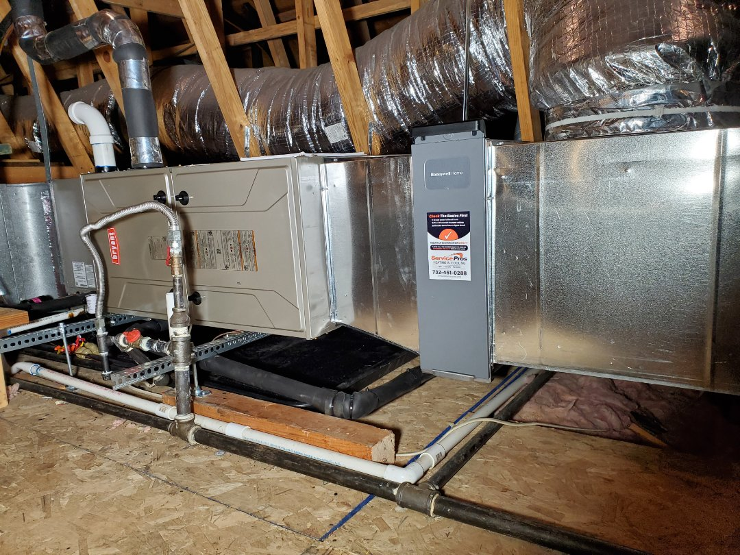 Install bryant preffered series high efficiency gas furnace  and 13 seer 3.5 ton air conditioner