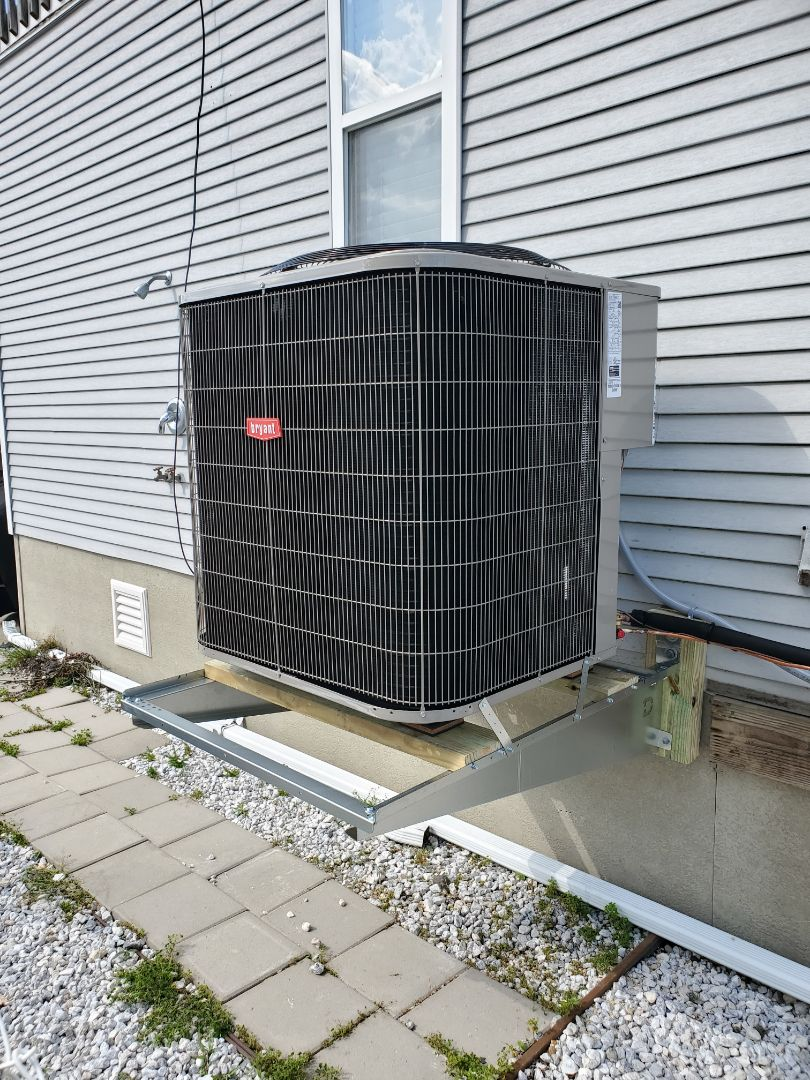 Install new Bryant 116 3.5 ton 16 SEER air conditioner