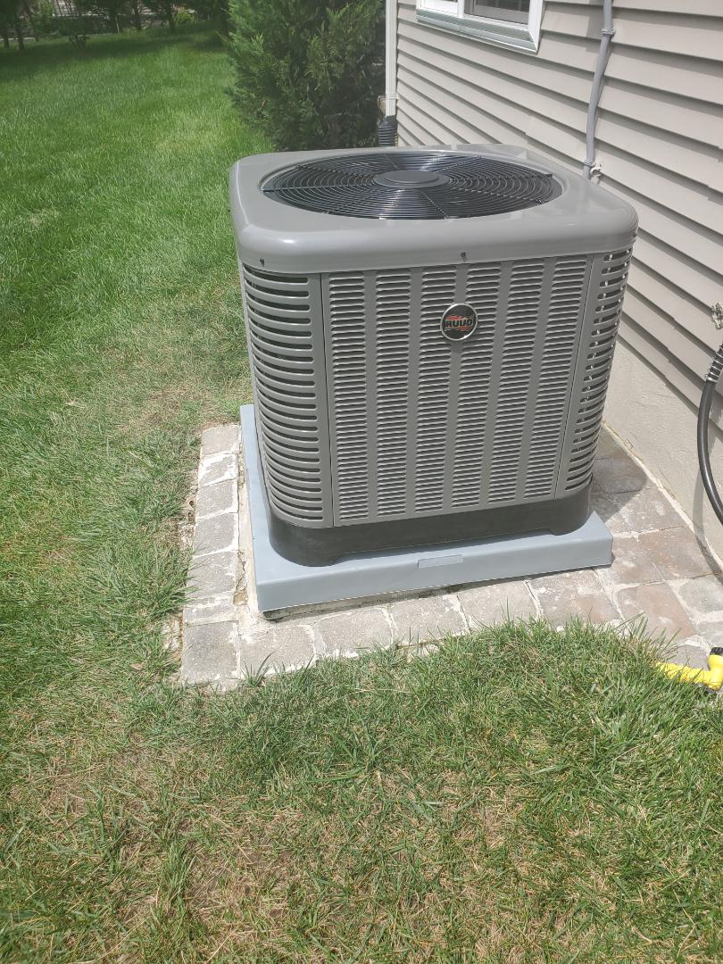 Install new Ruud RA13 3 ton air conditioner system