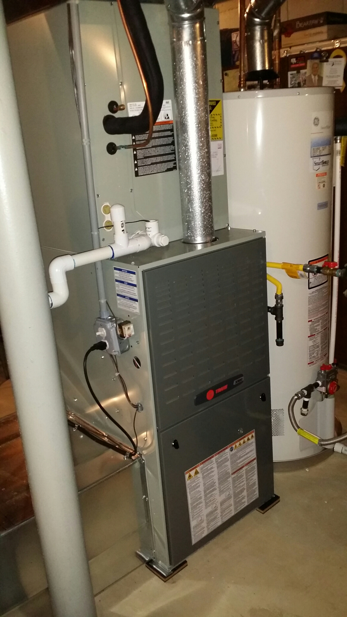 Brick, NJ - Fall heating system maintenace on Trane XR80 gas furnace
