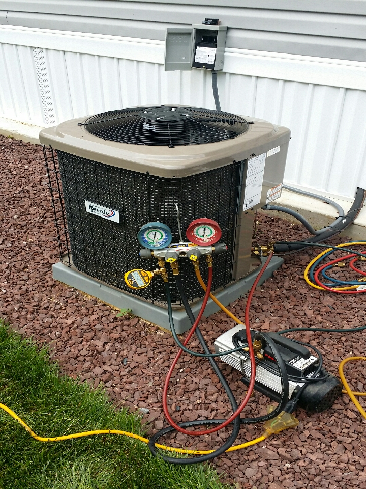 Freehold, NJ - A/C Freon leak repair on Revolv / York air conditioner in Freehold NJ