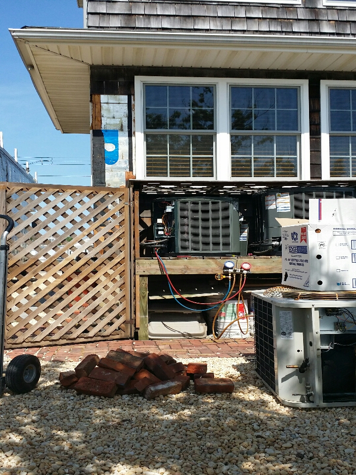 Seaside Heights, NJ - Install new Trane XR16 and Trane Hyperion air conditioner in Ortley Beach NJ