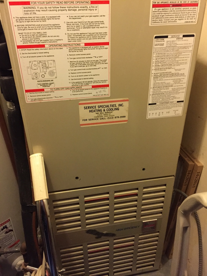 Kettering, OH - Replacing Bryant furnace