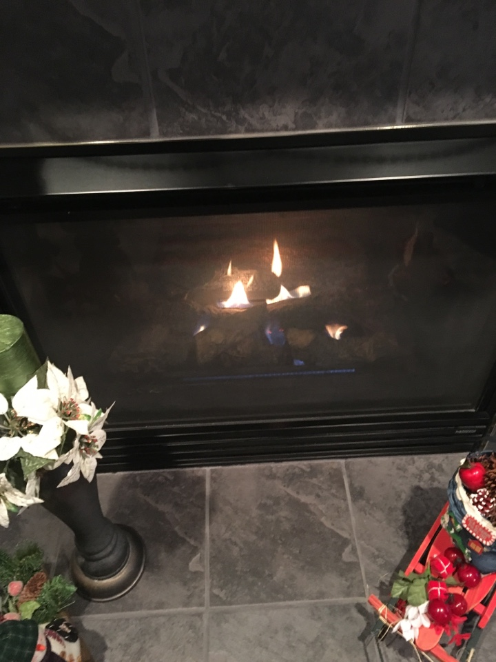 Miamisburg, OH - Serviced gas fireplace