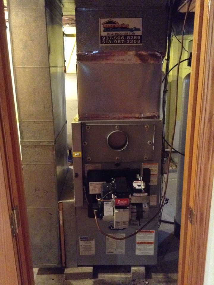 Hamilton, OH - Installing new carrier oil furnace