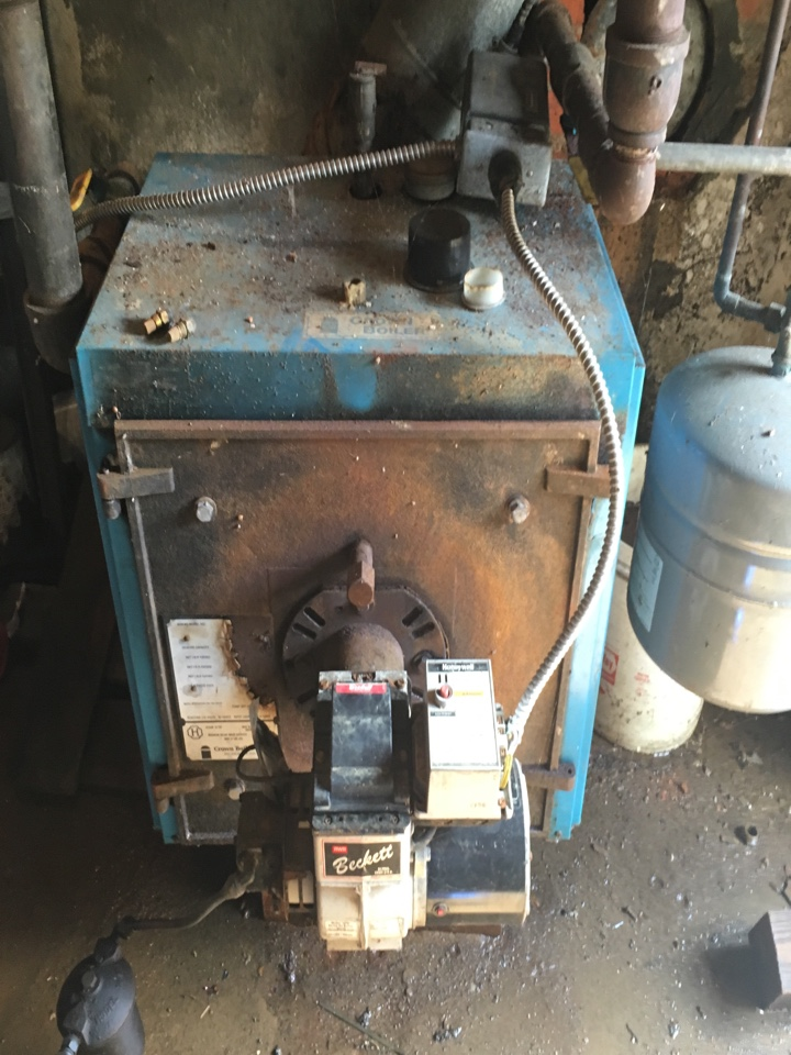 Springfield, OH - Inspecting a hot water boiler in Springfield Ohio