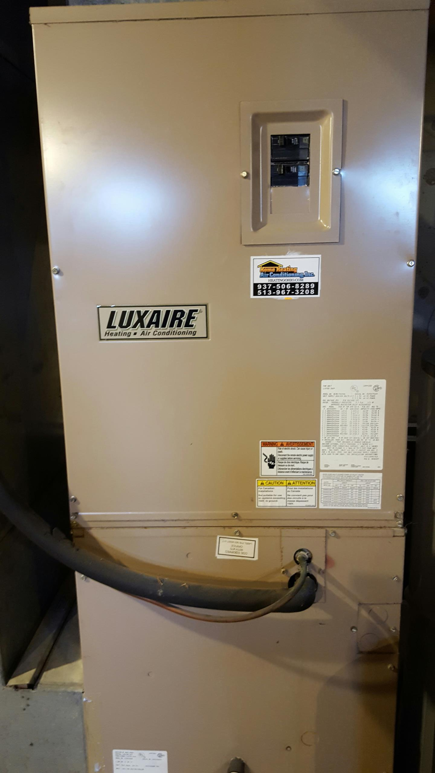 Mason, OH - Lux aire heat pump