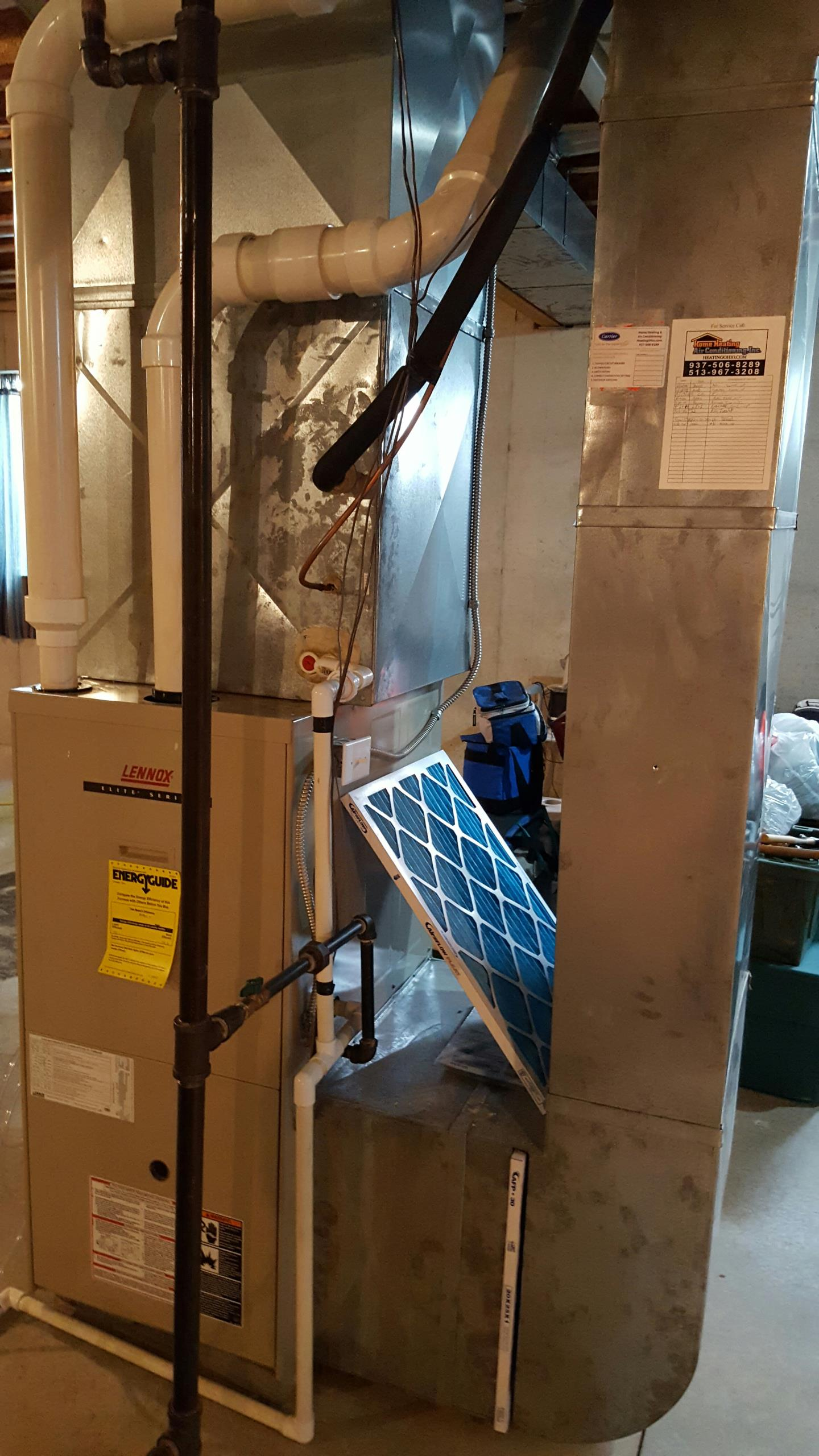 Tipp City, OH - Duct cleaning on lennox furnace