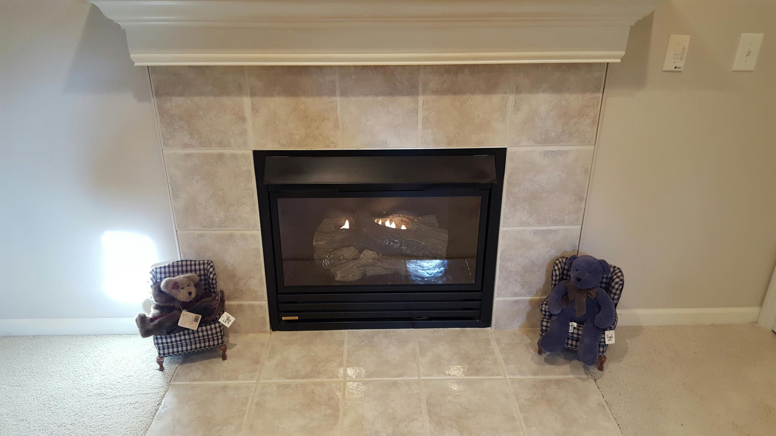 Miamisburg, OH - Gas fireplace