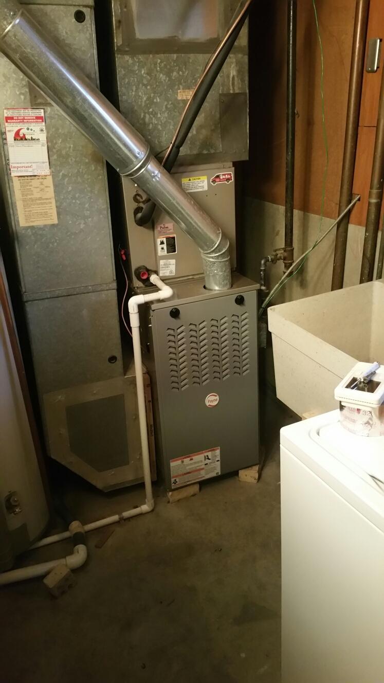 Dayton, OH - Install payne furnace