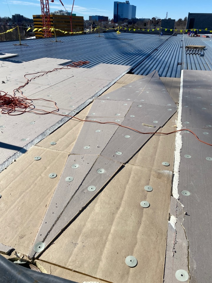 Stamford, CT - Building crickets for an EPDM new construction roof